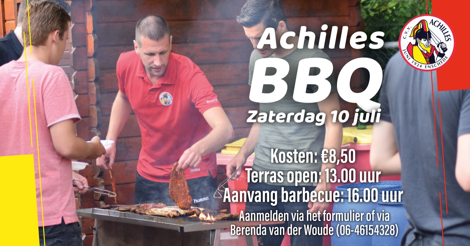 Meld je aan voor de Achilles BBQ van zaterdag 10 juli!