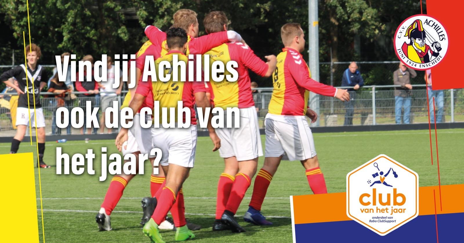 CVV Achilles genomineerd voor Club van het jaar: Stem nu!