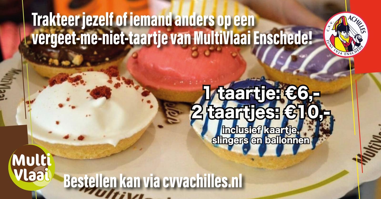 Hang thuis de slingers op! Bestel een taartje van MultiVlaai!