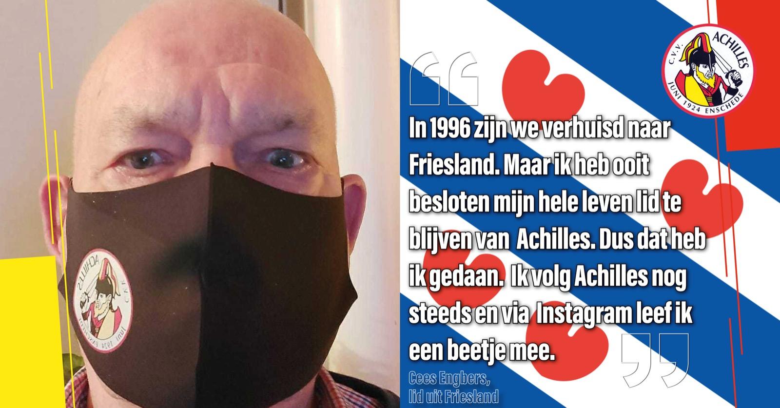 Cees Engbers (75) uit Friesland is al 65 jaar trouw lid van CVV Achilles!