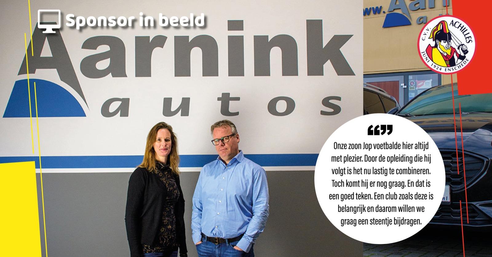Nieuwe bordsponsor: Aarnink Auto's