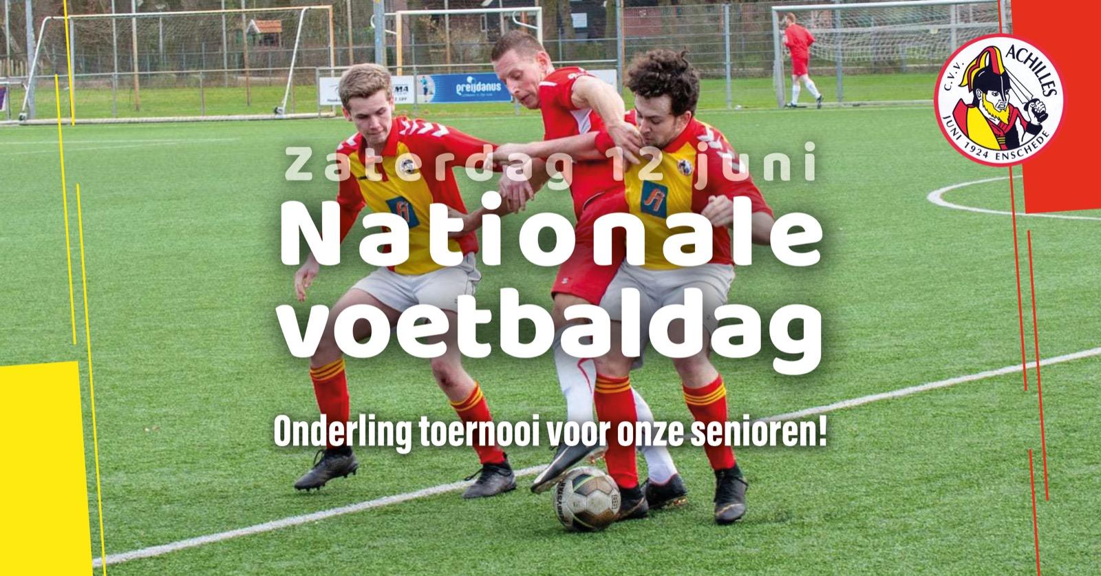 Nationale voetbaldag: onderling toernooi voor onze senioren