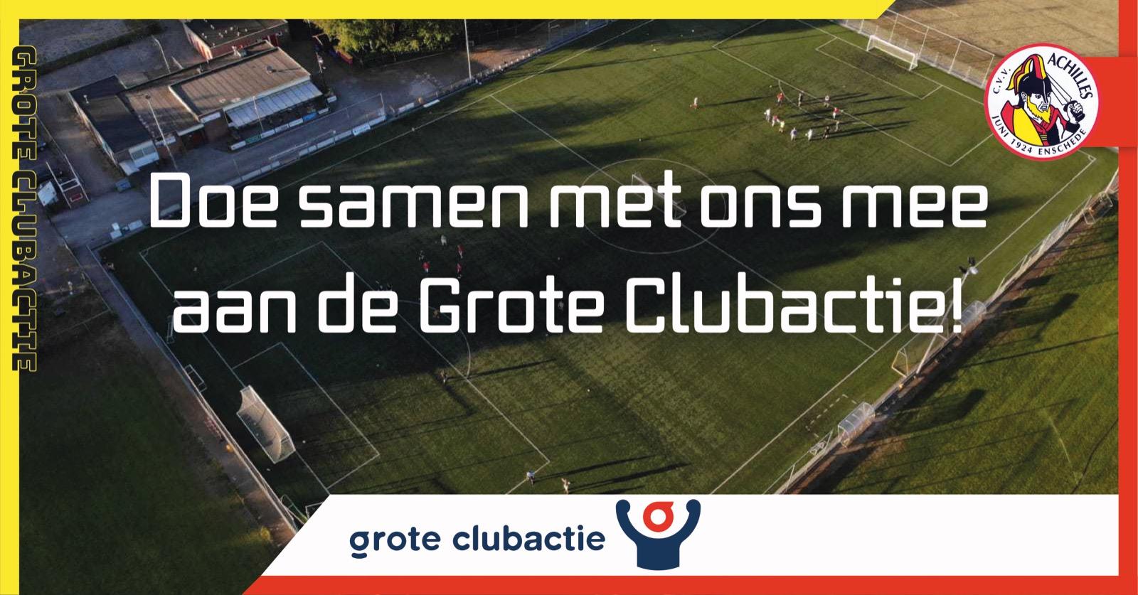 Steun Achilles en maak kans op prijzen van de Grote Clubactie!