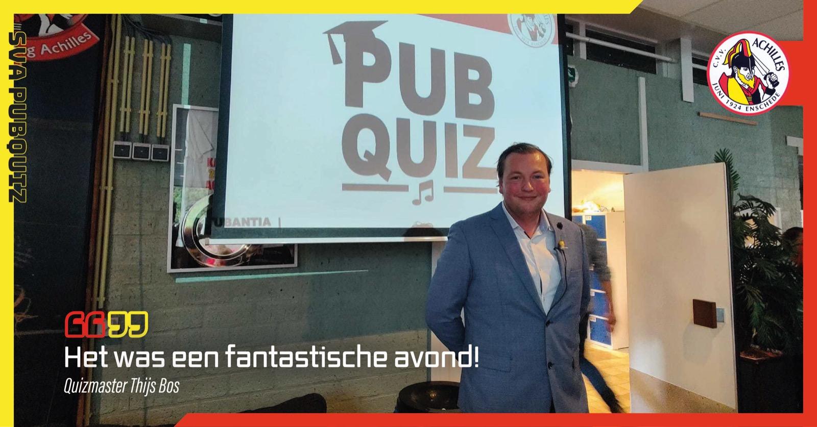 Quizmaster Thijs Bos blikt terug op 'fantastische avond'